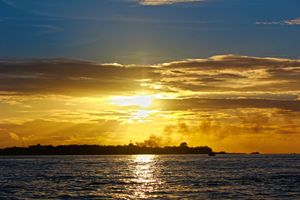 A Calm sunset over an Island
