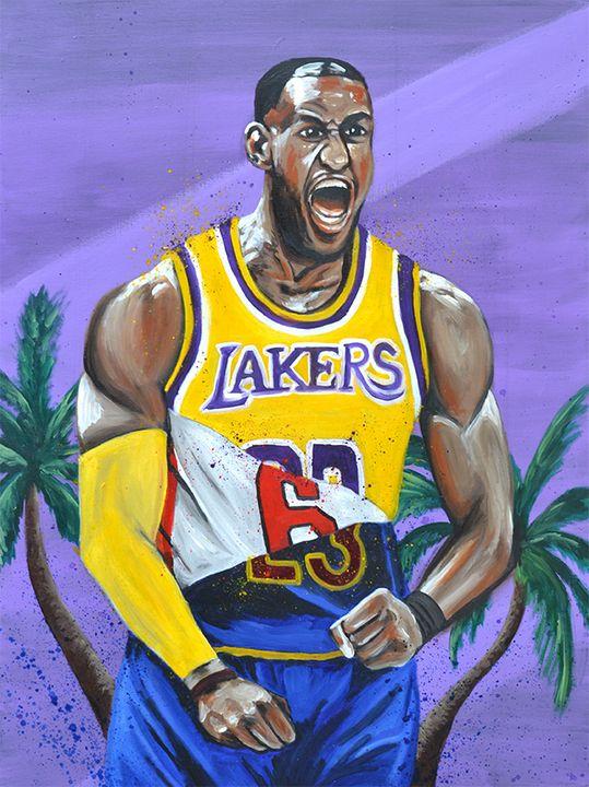 King James Jp Studio Paintings Prints Sports Hobbies Basketball Artpal