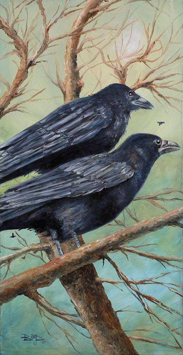 """Crows in Winter"" - Blue Bond Gallery"