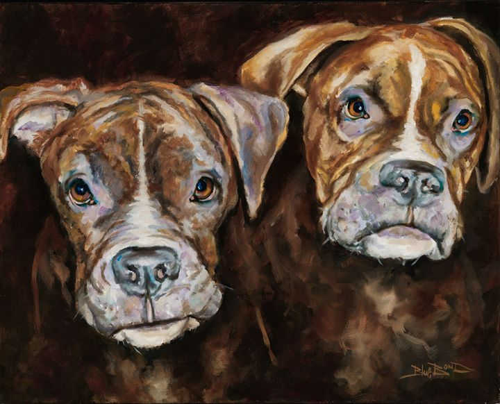 """The Boxer Brothers"" - Blue Bond Gallery"