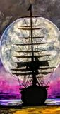 Sailing ship of old times