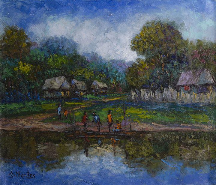 Amazonian village - Story Art Gallery