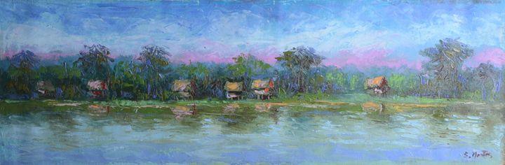 Village on Amazon river - Story Art Gallery
