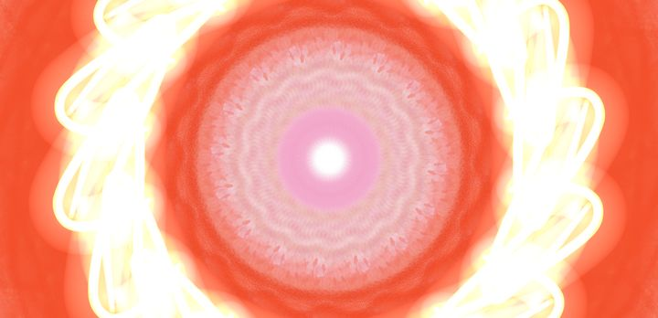 Blazing Color Orange - Vijay's Digital Art