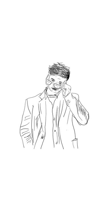 Poignant Man - Vijay's Digital Art
