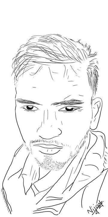 The Intense Face - Vijay's Digital Art