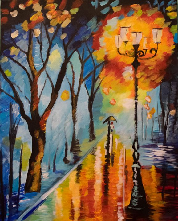Walking in the Rain - Paintings with Love