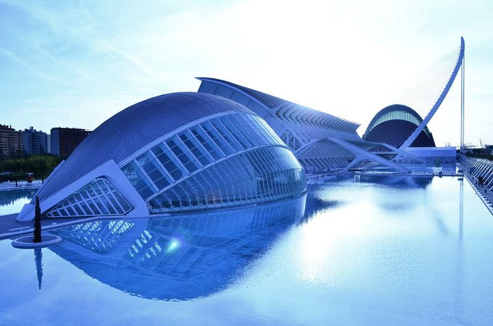 City Of Arts And Sciences Blue - Marek Stepan Photographer