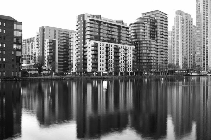 London Docklands Reflection - Marek Stepan Photographer