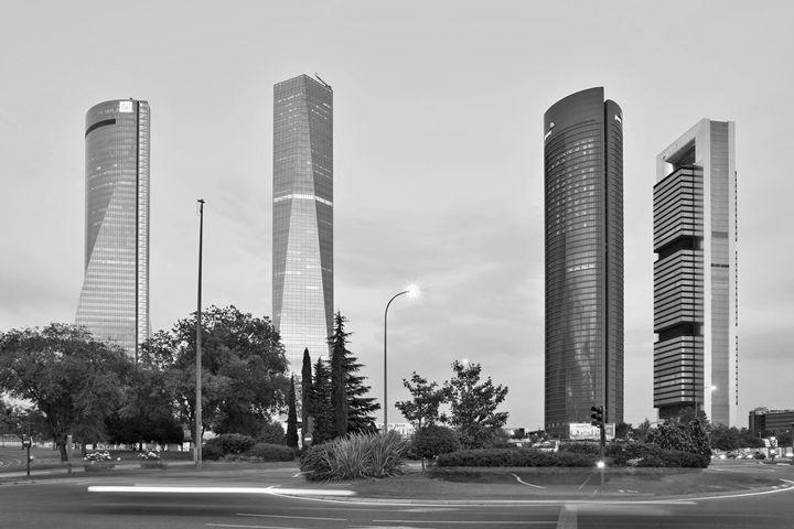 Madrid Cuatro Torres B&W - Marek Stepan Photographer