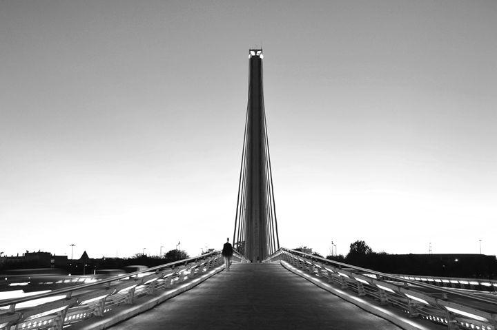 Puente Del Alamillo B&W - Marek Stepan Photographer