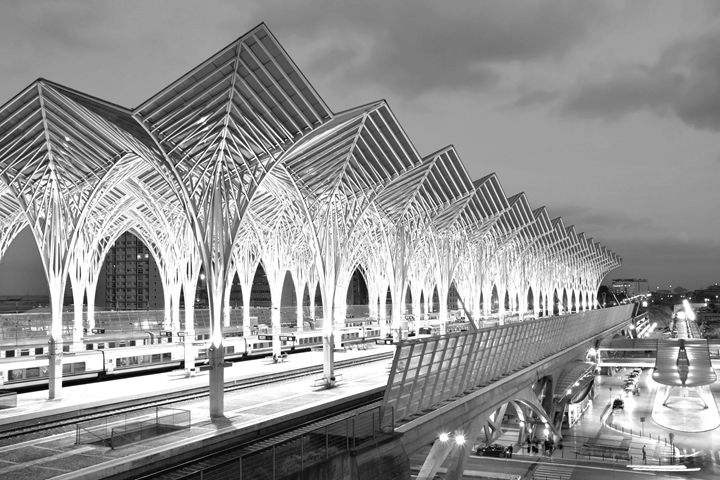 Gare Do Oriente B&W - Marek Stepan Photographer