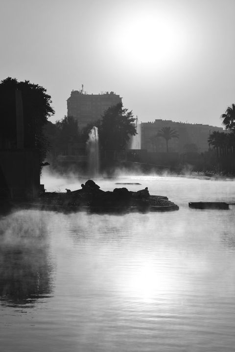 Misty Lake Monochrome - Marek Stepan Photographer