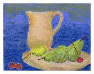 pastel still life w pears