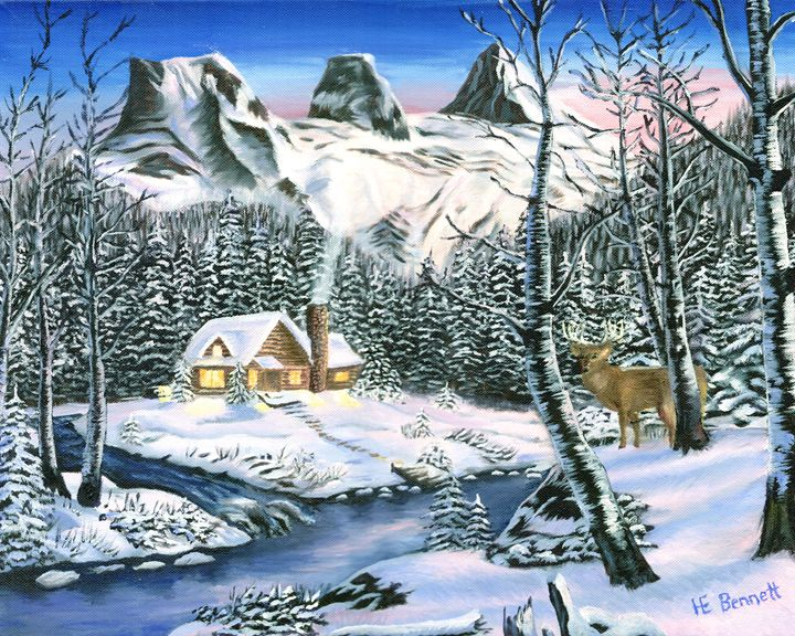 Winter Beauty - Oil Paintings by Haley Mueller