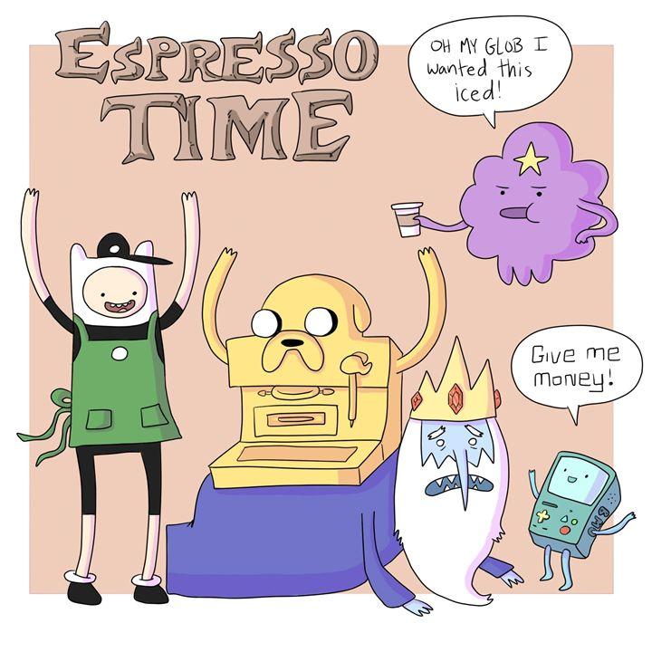 Espresso Time - HapyCow Art