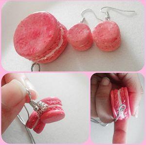 Macaron Earrings and Nacklace Set - JennieKitty