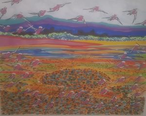 Gallahs over wetlands