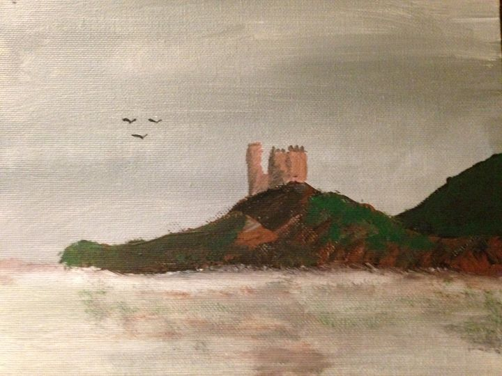 Scottish castle at a distance - Still Breathing Designs