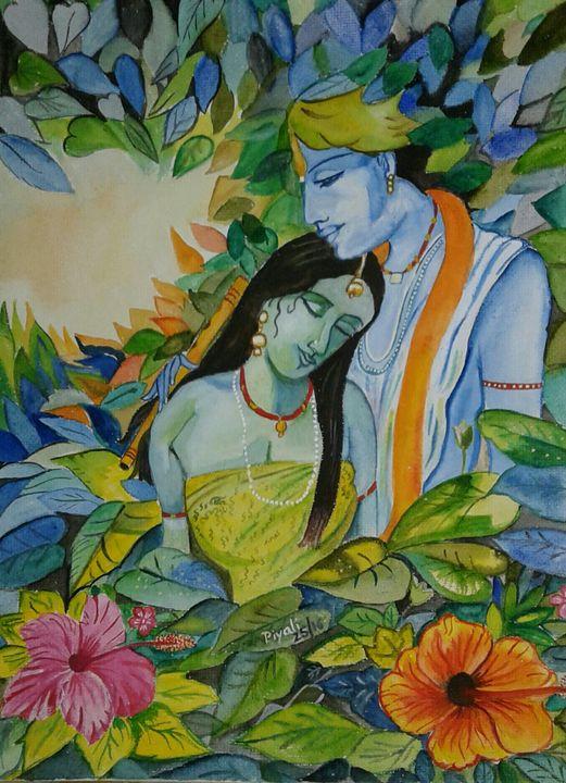 Radha Krishna painting - Piyali Mitra
