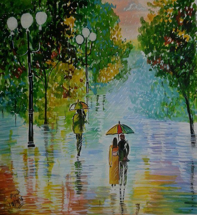 Rainy evening - Piyali Mitra