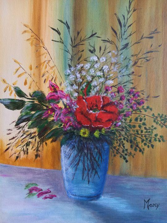 Vase with wildflowers - Arte nel mondo