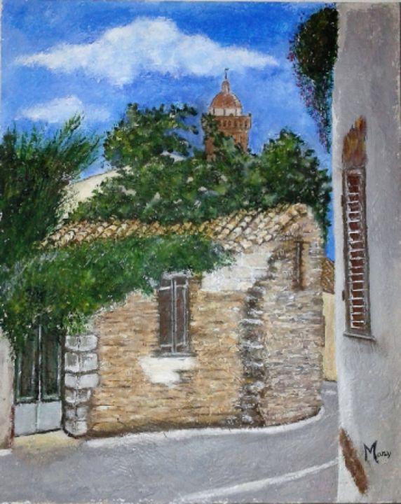 The foreshortening of small village - Arte nel mondo