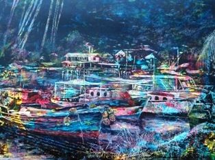Yatcht Cub Seychelles - OriginalBLJ art gallery & studio