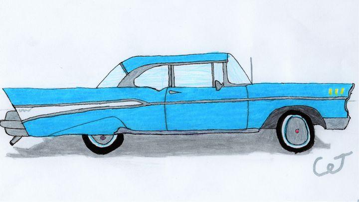 Light Blue Car - CJ Stronks