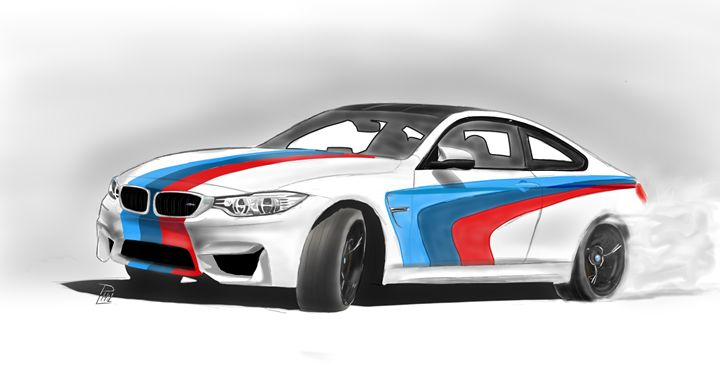 BMW M4 M STRIPES PRINT - PL Fabric