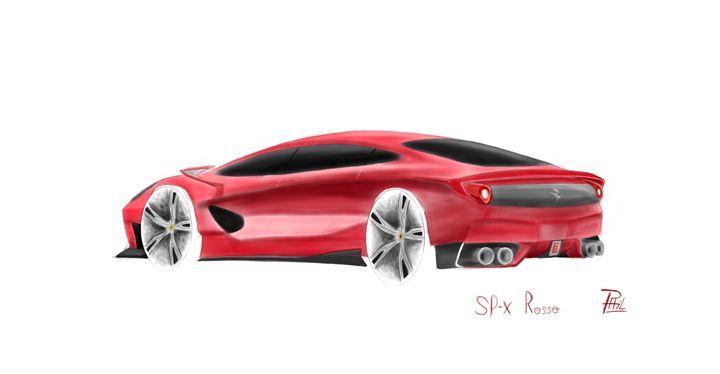 Ferrari SPX Rosso Concept - PL Fabric