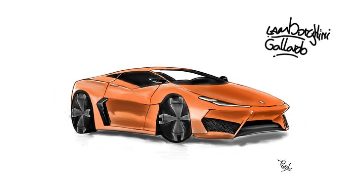 Lamborghini Gallardo Concept Print Pl Fabric Paintings Prints