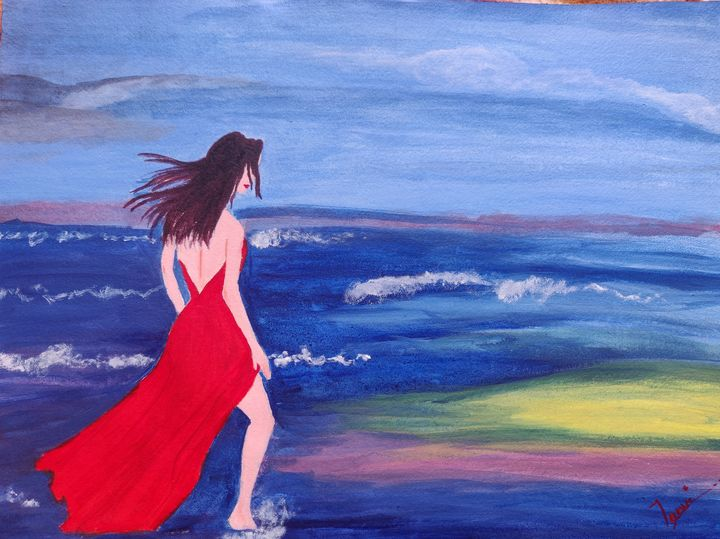 Girl amidst serenity - Tanvi's miracle art