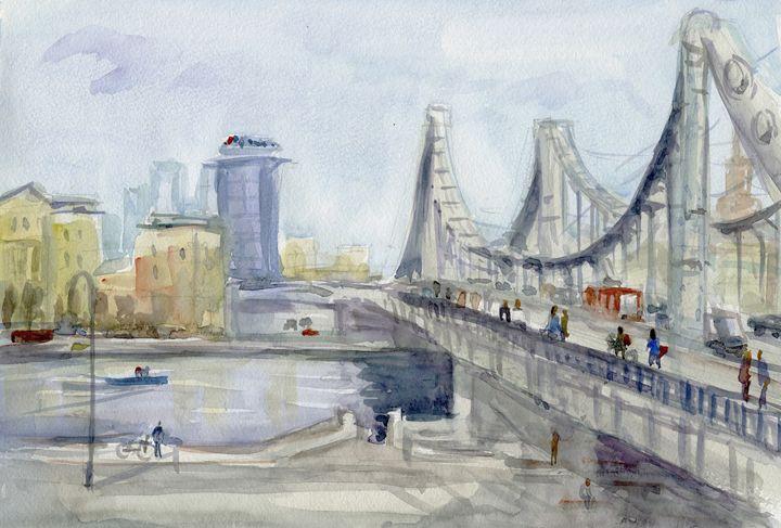 Crimean Bridge,  38.5 cm 26 cm - IRIKA