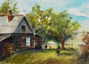 Old house in a Russian village