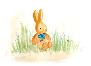 Funny bunny with a little bow