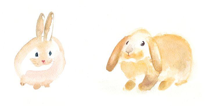 He and she Rabbits - IRIKA