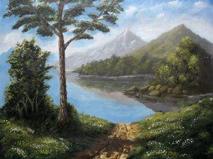 Morning in Lake (Repaint)