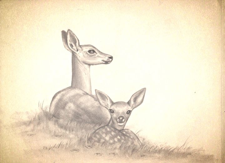 Mother and Fawn - Gregory J Farrugia