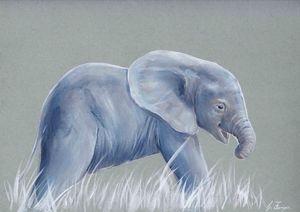 Elephant Calf - Gregory J Farrugia