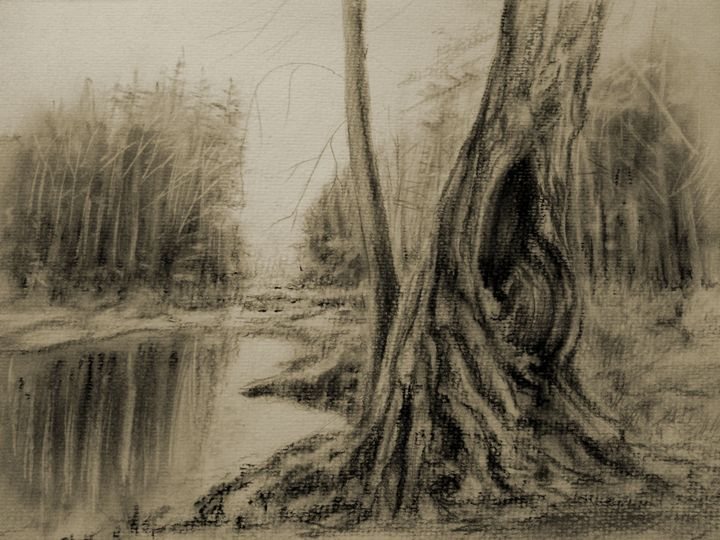 Tranquility in Charcoal - Gregory J Farrugia