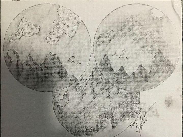 Mountain Trifecta - Frank Horton Artwork