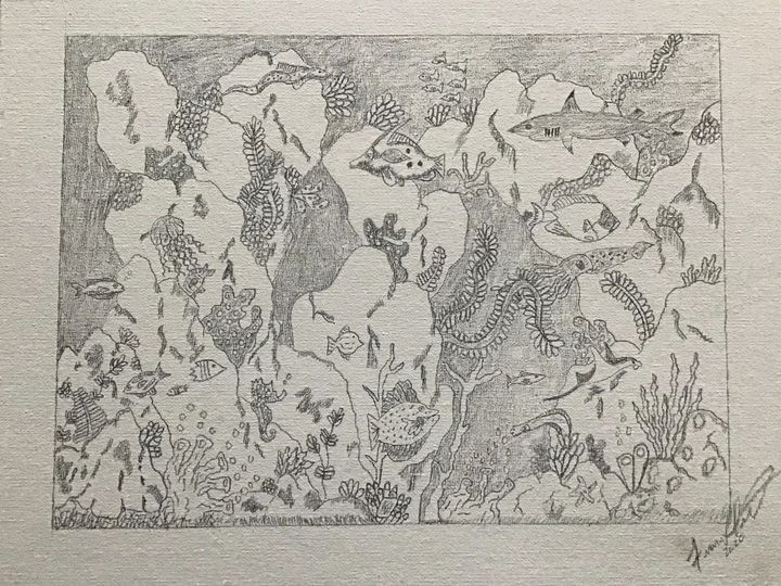 Ocean floor paradise - Frank Horton Artwork