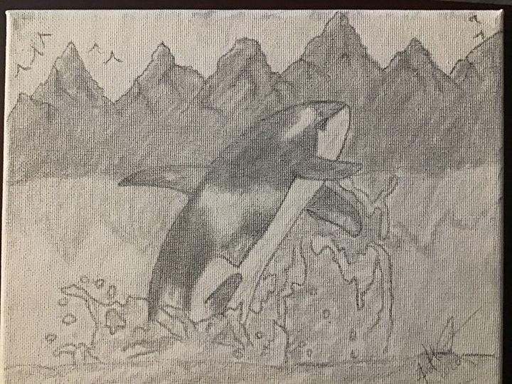 Killer Whale Rising - Frank Horton Artwork