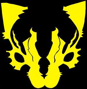 yellow cat emblem