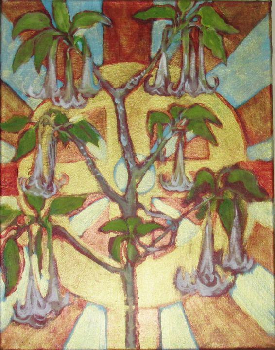 """Angel Trumpet and Celtic Cross"" - Anna Mills Raimondi"