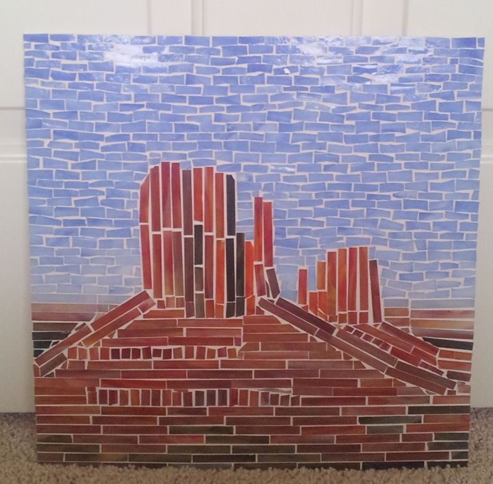 Monument Valley Mosaic Wall Hanging - Mosaic World