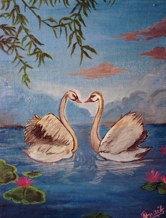 Swan Couple - ImmortalArt