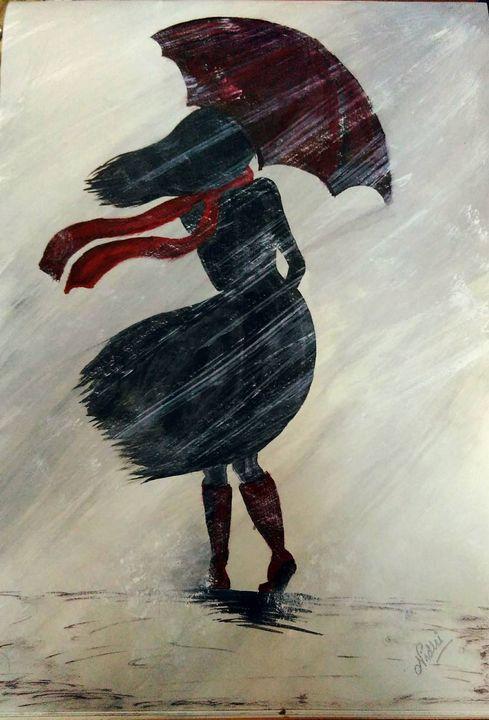 Snow storm portrait - Nidhi