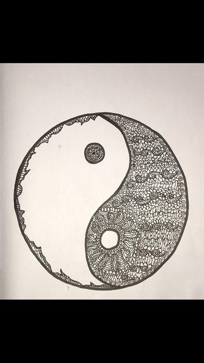 Zentangle Yin-Yang - Art By Maya